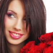 Woman with Roses — Stock Photo #1685602