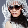 winter mode meisje — Stockfoto