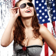 Amerikaanse pin-up girl — Stockfoto