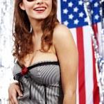 American pin-up girl — Stock Photo