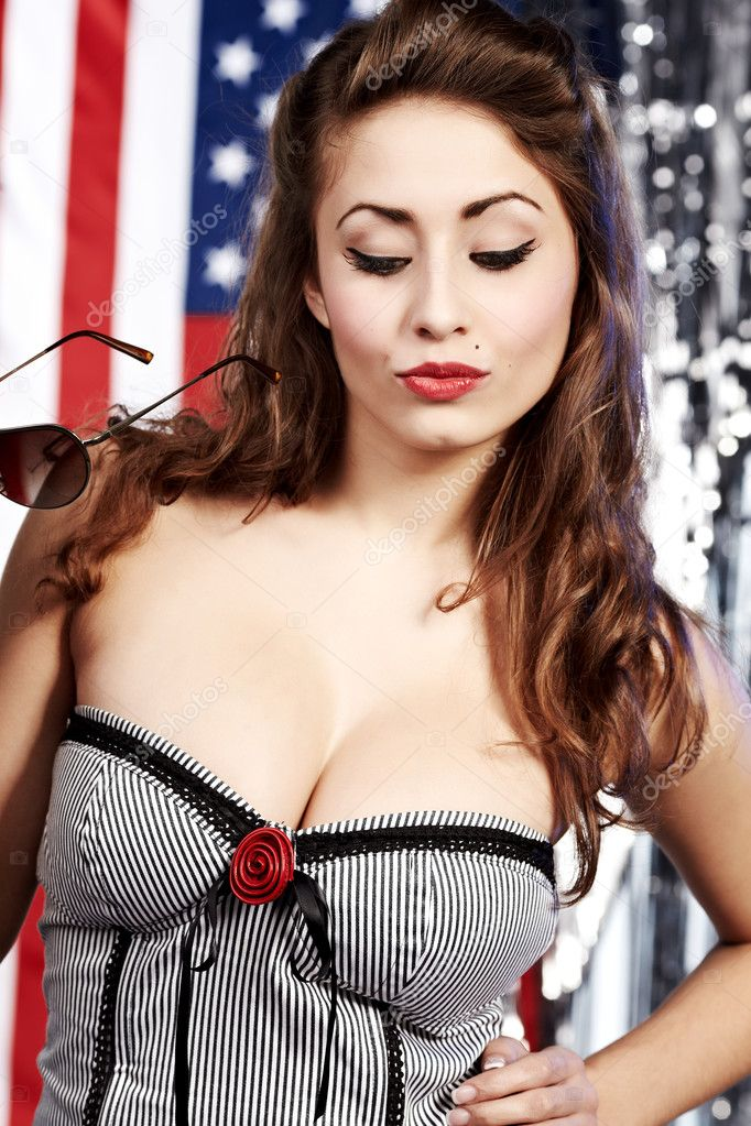 American pin-up girl — Stock Photo #1809091