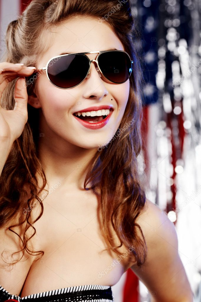 American pin-up girl — Stock Photo #1809422