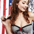 American pin-up girl — Stock Photo