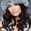 Winter fashion woman — Stockfoto
