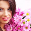 Woman face with flowers — Stock Photo #1821814