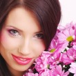 Woman face with flowers — Stock Photo #1821859