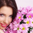 Woman face with flowers — Stock Photo #1821905