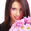 Woman face with flowers — Stock Photo #1821963