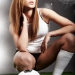 Sexy soccer player, — Stockfoto