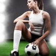 Sexy soccer player, — Stock Photo #2029664