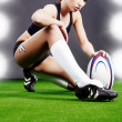 Rugby girl - Stock Photo