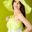 Stock Photo: Spring woman portrait. green concept