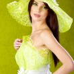 Spring woman portrait. green concept — Stock Photo
