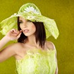 Spring woman portrait. green concept — Stock Photo #2542959