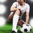 Sexy soccer player — Stock Photo #2543678