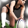 Rugby girl — Stock Photo #2599106