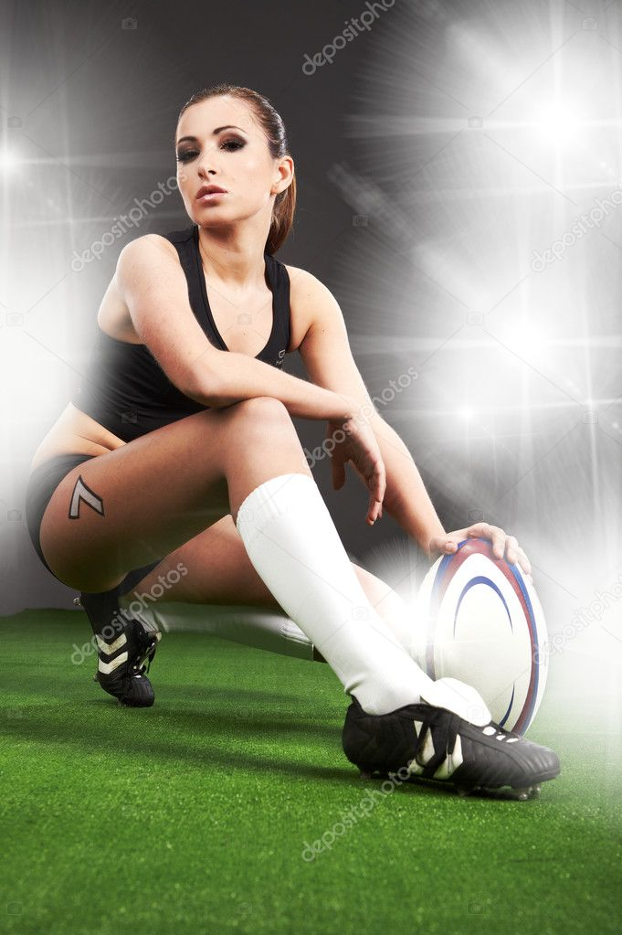 Rugby girl — Stock Photo #2598852