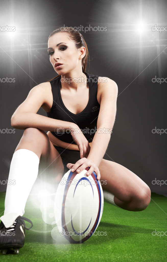 Rugby girl — Stock Photo #2598932