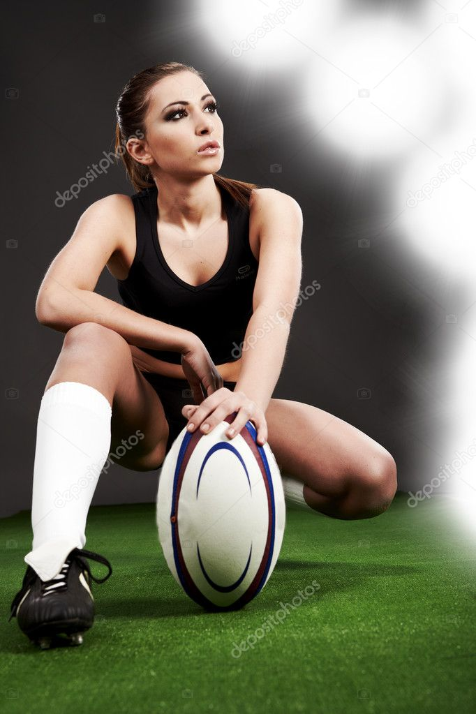 Rugby girl — Stock Photo #2599016