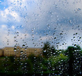 Dripped on windowpanes — Stock Photo