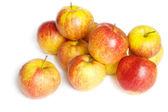 Malá skupina červená jablka — Stock fotografie