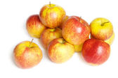 Small group of red apples — Stockfoto