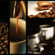Espresso Coffee Collage - Stok fotoğraf