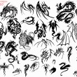 Tribal Designs - Dragon — Image vectorielle