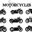 Stock Vector: Motorcycles