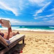 Relaxing on beach — Stok Fotoğraf #1583655