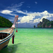 Foto Stock: Boat in tropical sea.