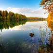 Stock Photo: Autumnal lake