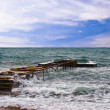 Pier in the sea — Stock Photo