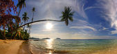 Panorama of tropical beach — Stock Photo