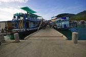 Ships near the pier — Stock Photo