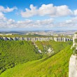 Green Grand Canyon in Crimean Mountains - Stock Photo