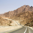 Stock Photo: Road in desert Rub' al Khali, UAE