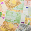 Stock Photo: Euro banknotes, money background
