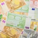 Euro banknotes, money background — Stock Photo