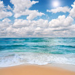 Beach and sea — Foto Stock
