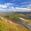 Autumn mountain panorama — Stock Photo