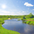 Beautiful summer landscape. river and me — Stock Photo #1617118