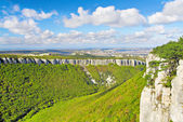 Green Grand Canyon in Crimean Mountains — Stock Photo