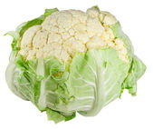 Cauliflower isolated over white — Foto Stock