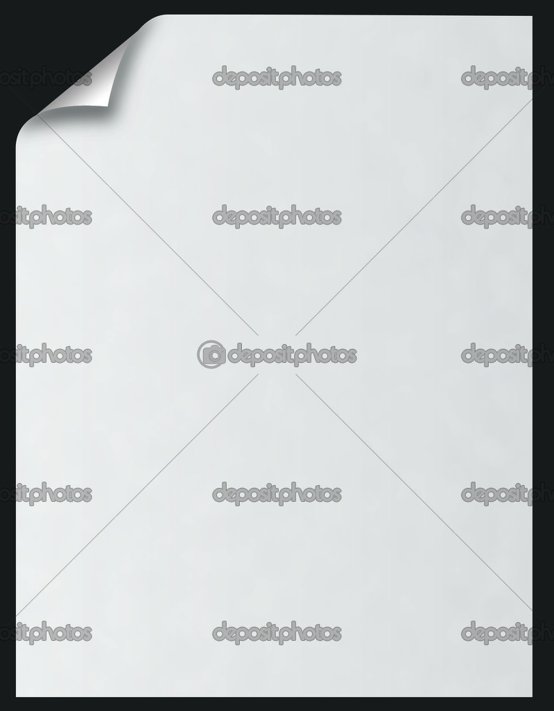 Paper blank with curl over black — Stock Photo #1616655