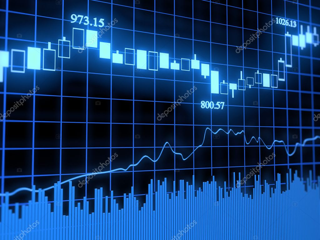 Abstract stock graph with data — Foto Stock #1596858