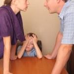 in una famiglia in conflitto — Foto Stock
