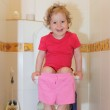 Girl in a toilet — Stock Photo #1839814