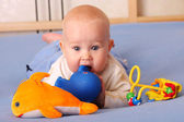 Baby plays with toys 2 — Stock Photo