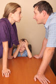 Conflict in a family — Stock Photo